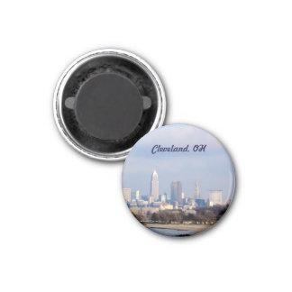 Cleveland, Ohio View (Edgewater)Magnet 3 Cm Round Magnet