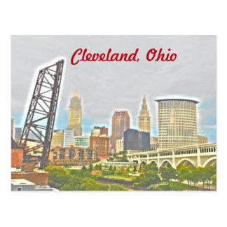 Cleveland, Ohio West Bank View Postcard