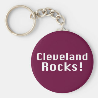 Cleveland Rocks Gifts Basic Round Button Key Ring