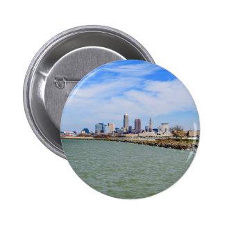 Cleveland Skyline 6 Cm Round Badge