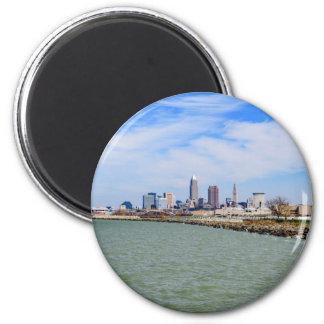 Cleveland Skyline 6 Cm Round Magnet