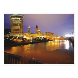 Cleveland Skyline at Night Postcard