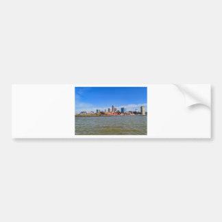 Cleveland Skyline Bumper Sticker