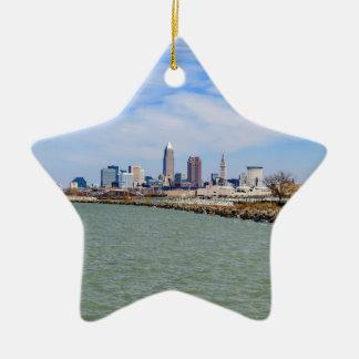 Cleveland Skyline Ceramic Star Decoration
