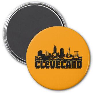 Cleveland Skyline 7.5 Cm Round Magnet