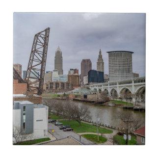 Cleveland Skyline Tile