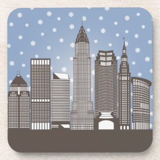 Cleveland Snowflakes Coaster