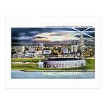 Cleveland Stadium Skyline at Dusk, Cleveland, Ohio Post Cards