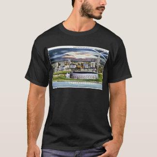 Cleveland Stadium Skyline at Dusk, Cleveland, Ohio T-Shirt