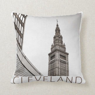 Cleveland - Terminal Tower Throw Pillow