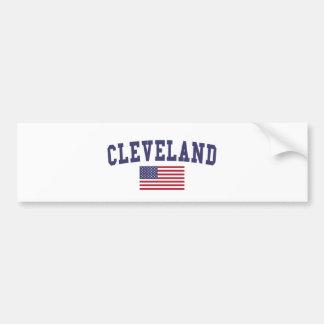 Cleveland TN US Flag Bumper Sticker