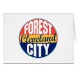 Cleveland Vintage Label Greeting Cards