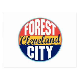 Cleveland Vintage Label Postcard