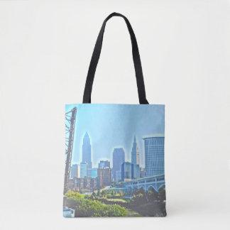 Cleveland West River Blues Tote Bag