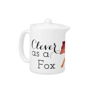 Clever as a Fox Typographical Watercolor