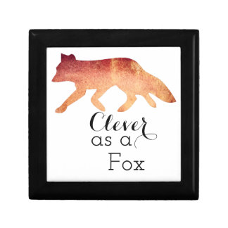Clever as a Fox Typographical Watercolor Gift Box