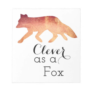Clever as a Fox Typographical Watercolor Notepad