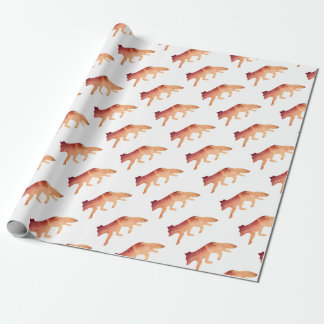 Clever as a Fox Typographical Watercolor Wrapping Paper
