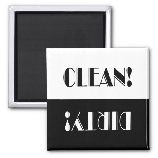 Clever Clean or Dirty Dishwasher Magnet