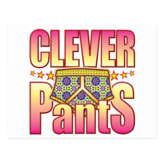 Clever Flowery Pants Postcard