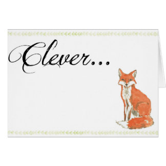 Clever Fox Graduation Card