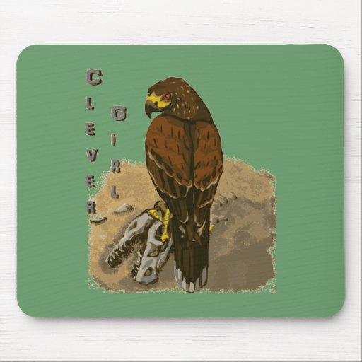 Clever Girl - Two Raptors Mouse Pad