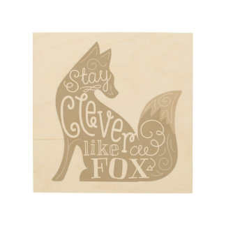 Clever like a Fox - Children's Wood Panel Art