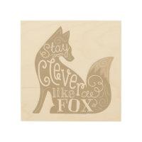 Clever like a Fox Wood Wall Art