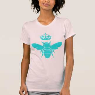 Clever Teal Queen Bee Logo T-Shirt