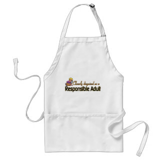 CLEVERLY DISGUISED AS A RESPONSIBLE ADULT ADULT APRON