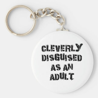 Cleverly Disguised As An Adult Grandpa Gift Basic Round Button Key Ring