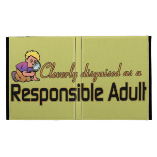 CLEVERLY DISGUISED AS RESPONSIBLE ADULT iPad FOLIO COVERS