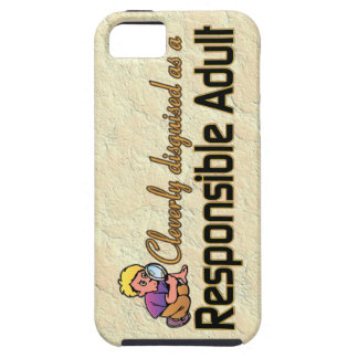 CLEVERLY DISGUISED AS RESPONSIBLE ADULT iPhone 5 COVER