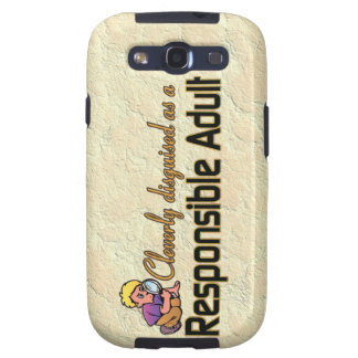 CLEVERLY DISGUISED AS RESPONSIBLE ADULT SAMSUNG GALAXY S3 CASES