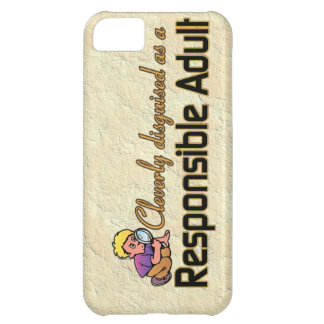 CLEVERLY DISGUISED AS RESPONSIBLE ADULT iPhone 5C CASE