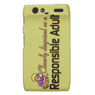 CLEVERLY DISGUISED AS RESPONSIBLE ADULT DROID RAZR CASES