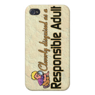 CLEVERLY DISGUISED AS RESPONSIBLE ADULT iPhone 4/4S COVERS