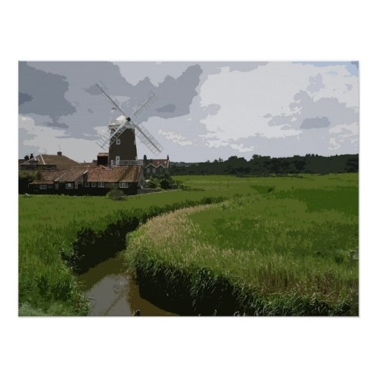 CLEY WINDMILL-NORFOLK POSTER