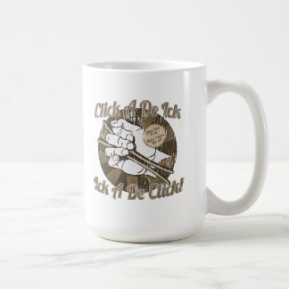 Click A De Bones Brown Coffee Mugs