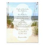 Click customise to change size - Beach Wedding 11 Cm X 14 Cm Invitation Card