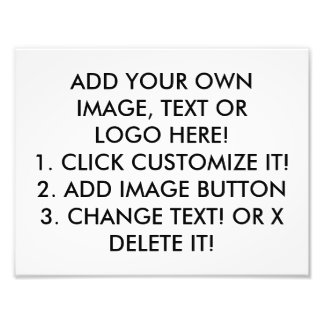 CLICK CUSTOMIZE IT! ADD IMAGE, TEXT, MAKE YOUR OWN PHOTO PRINT