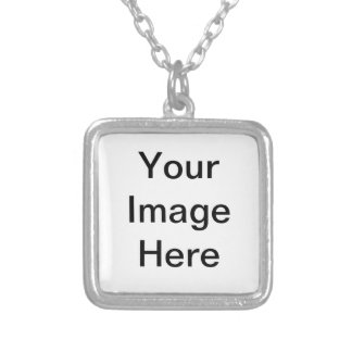 CLICK CUSTOMIZE IT - ADD YOUR PHOTO HERE! MAKE OWN SILVER PLATED NECKLACE