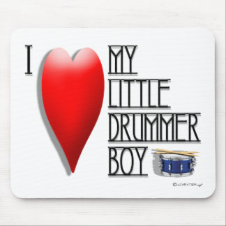 Click It Loud (I LOVE MY LITTLE DRUMMER BOY) Mouse Mat