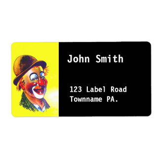 Click on Customize Clown Avery Address Label black Shipping Labels