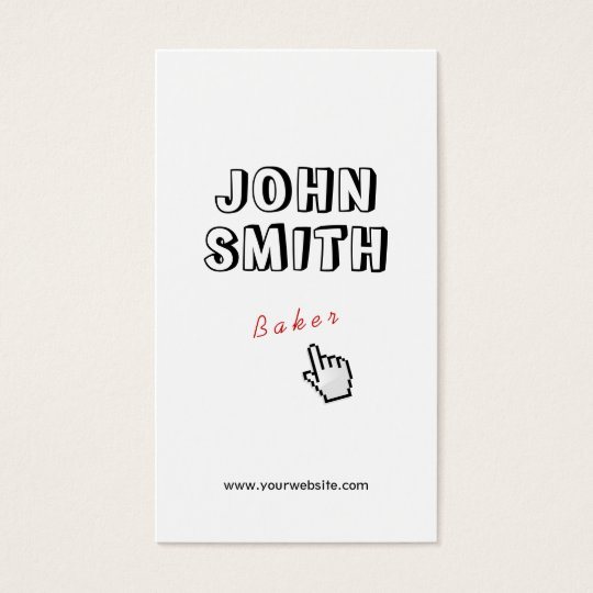 Click! Outline Text Baker Business Card