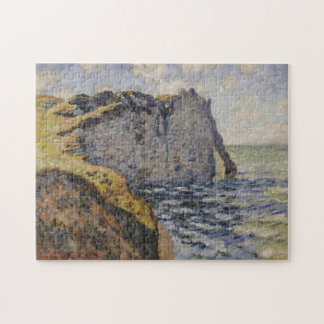 Cliff and Porte d'Aval Monet Fine Art Jigsaw Puzzle