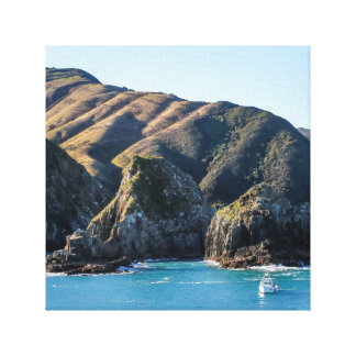 Cliff and Wave Stretched Canvas Prints