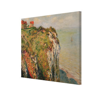Cliff at Dieppe, 1882 Stretched Canvas Prints