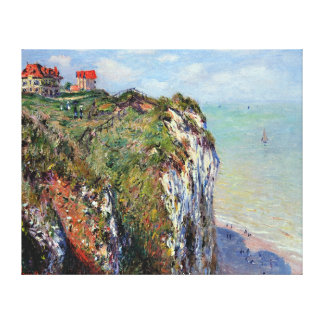 Cliff At Dieppe, by Claude Monet Canvas Print