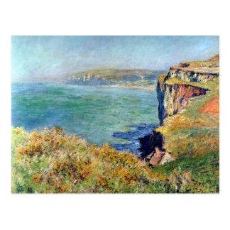 Cliff at Grainval by Claude Monet Postcards
